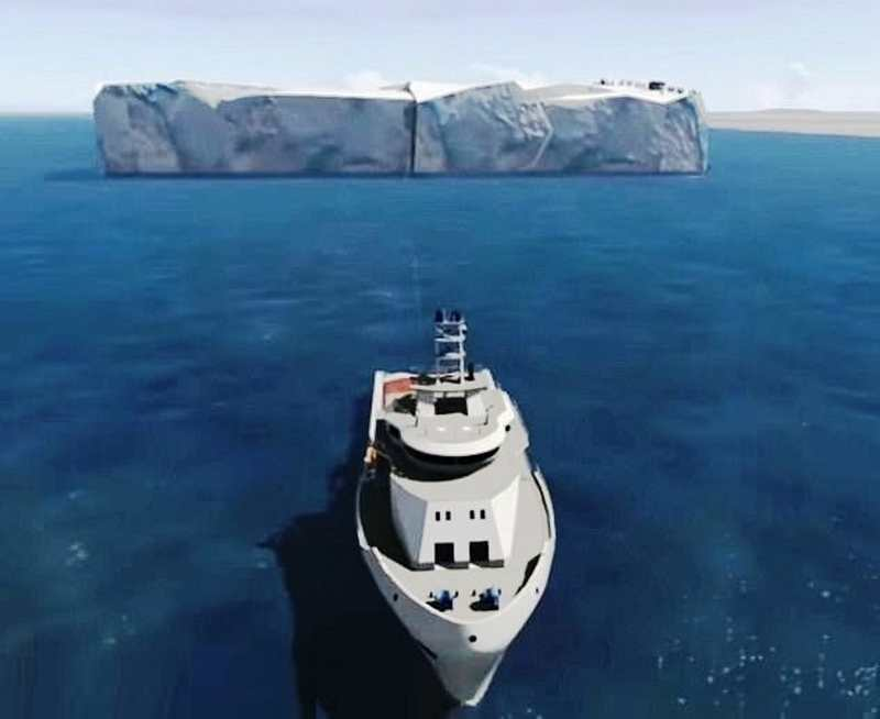 UAE will drag an Iceberg from Antarctica