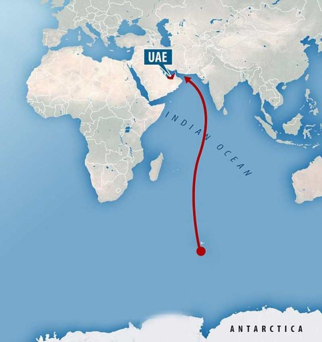 UAE will drag an Iceberg from Antarctica