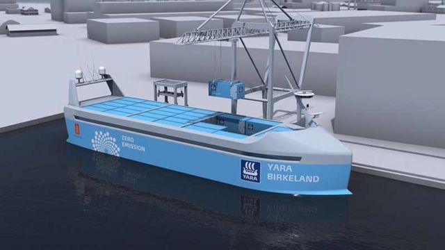 World's first Autonomous, zero emission Container ship