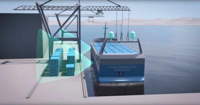 World's first Autonomous, zero emission Container ship (2)