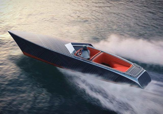 Zebra Electric speedboat