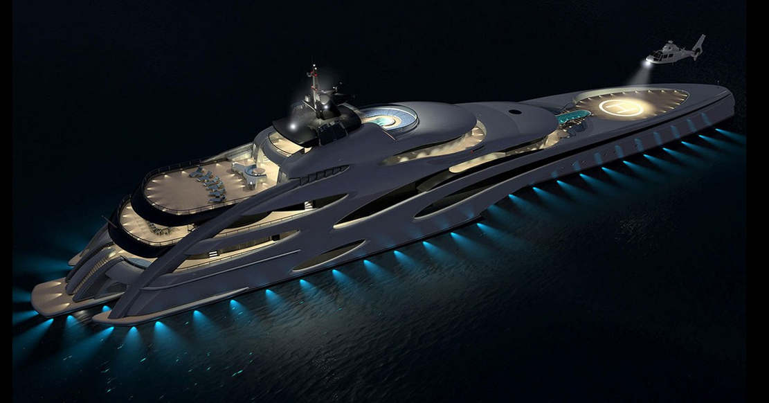 120-Meter Trimaran Superyacht concept