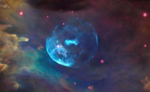 Approaching the Bubble Nebula