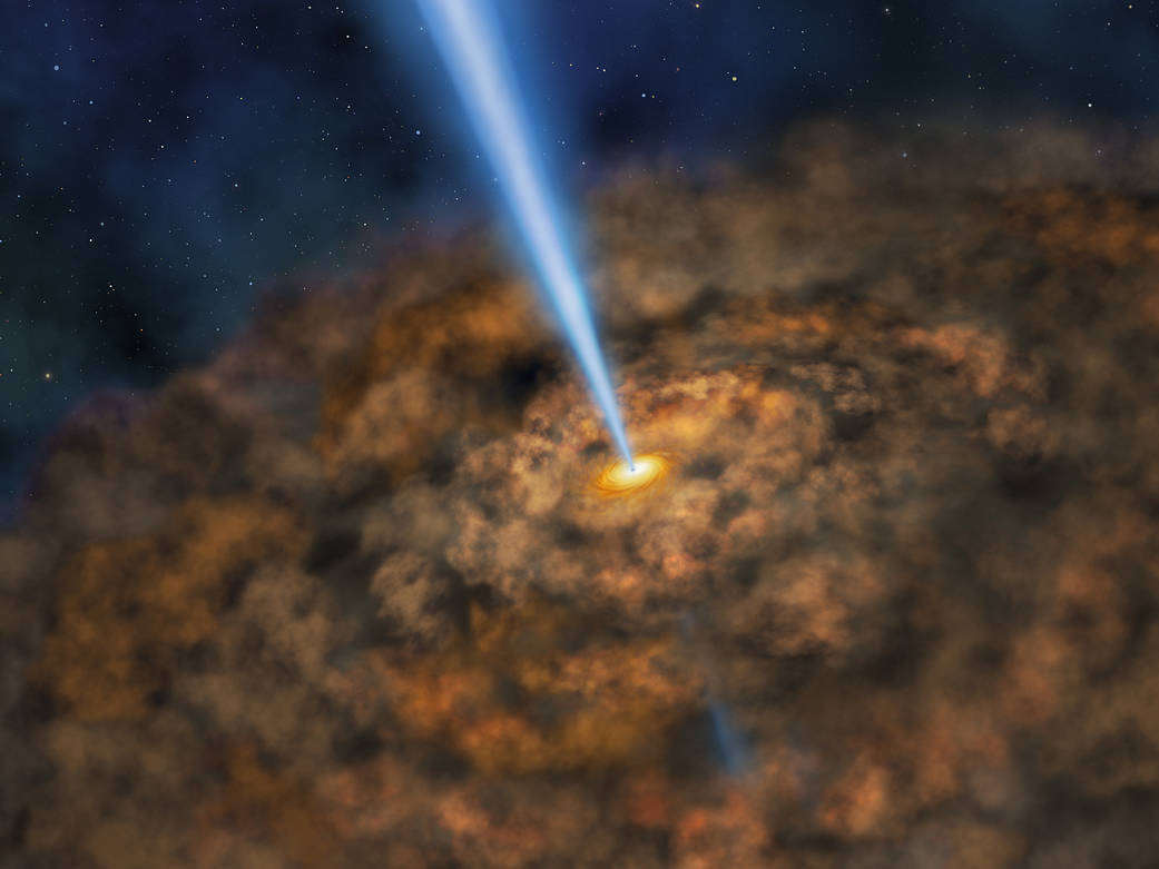 Cool Dust around an Active Black Hole
