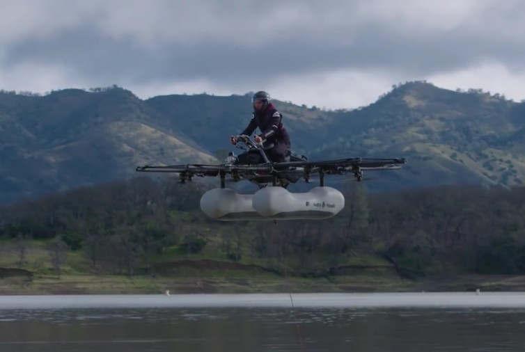 Kitty Hawk's flying motorbike new video
