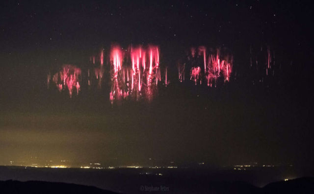 Red Sprites over the Channel