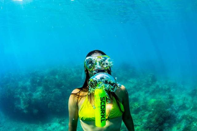 Scorkl - Portable Breathing underwater system (3)