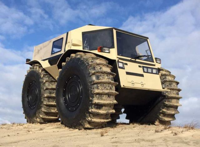 The Sherp ATV amphibious vehicle
