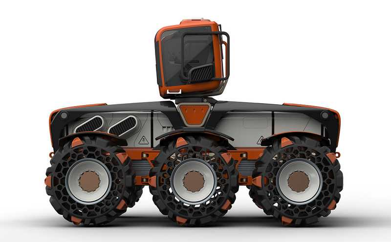 Tractor Wheels Concept : Wordlesstech triple v tractor concept
