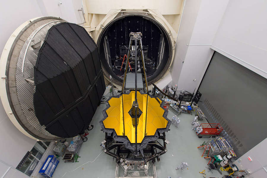 Webb Telescope for Testing in Space Simulation Chamber