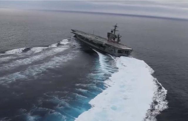 Aircraft Carrier High-Speed Turns
