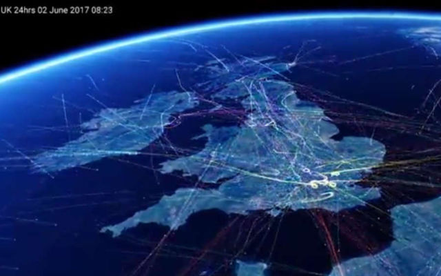 Britain's busiest Flight paths