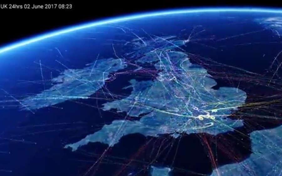 Britain's busiest Flight paths