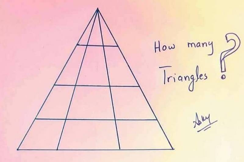 How many triangles are in this drawing