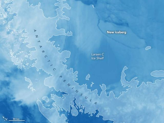 1 Trillion-Ton Iceberg just broke off Antarctica