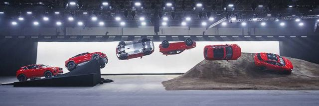 Jaguar E-Pace win world's furthest Barrel Roll
