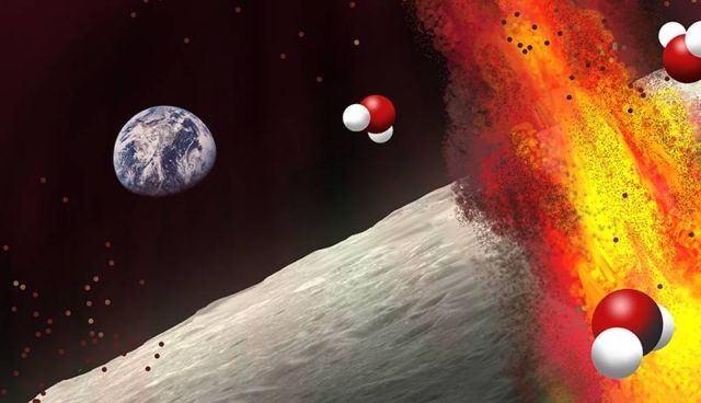 Large quantities of Water hidden inside the Moon
