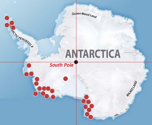 91 new Volcanoes discovered under Antarctica's Ice