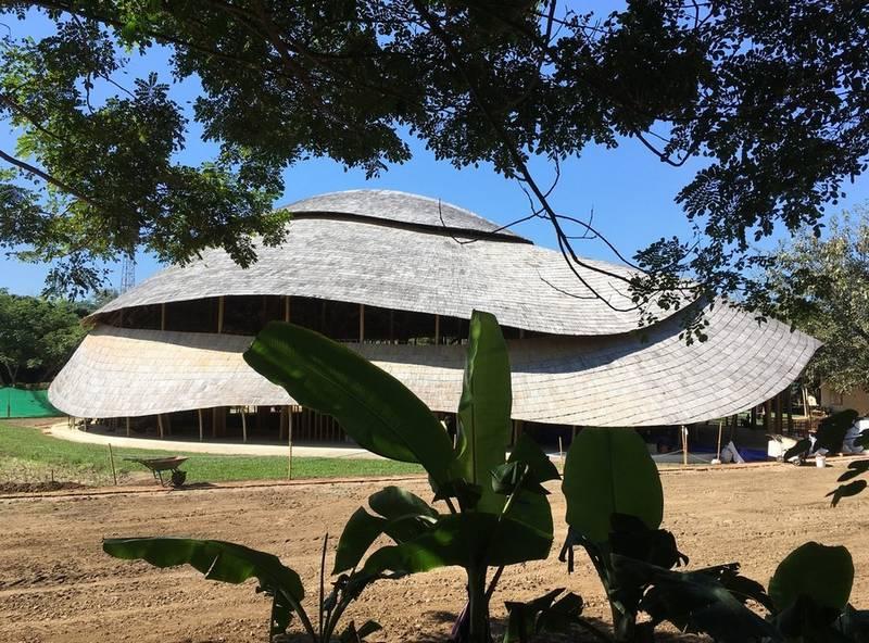 Brilliant Bamboo Sports Hall building (9)