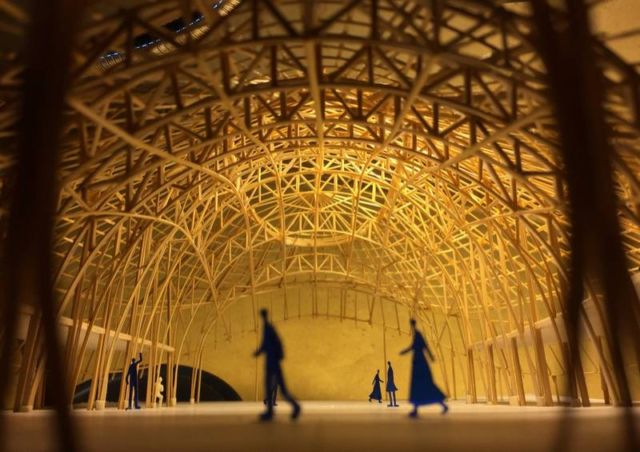 Brilliant Bamboo Sports Hall building (7)