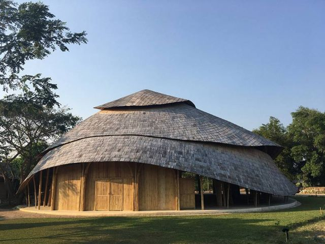 Brilliant Bamboo Sports Hall building (4)