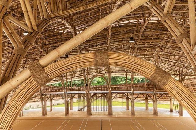 Brilliant Bamboo Sports Hall building (3)