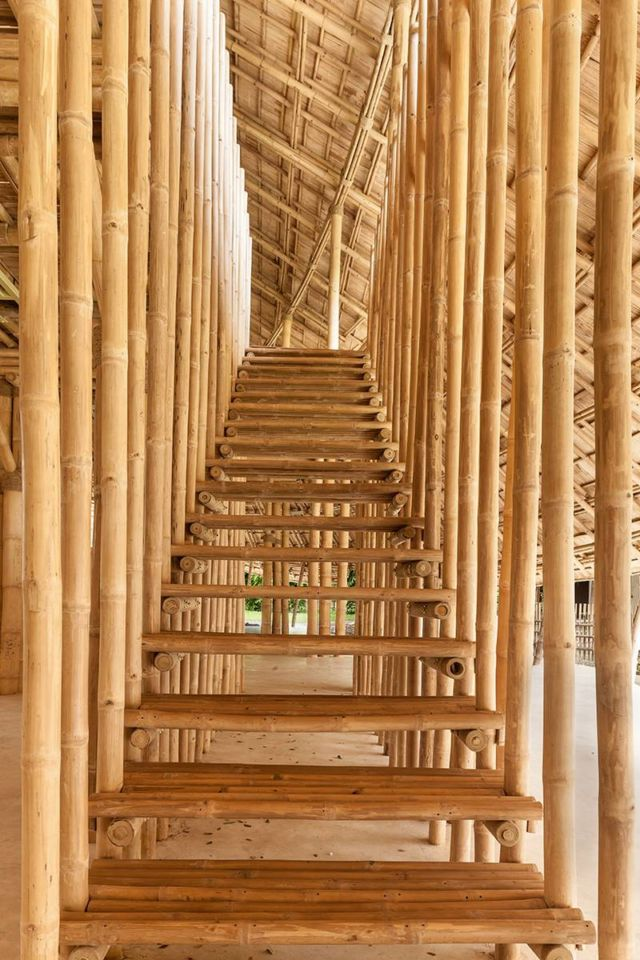 Brilliant Bamboo Sports Hall building (2)
