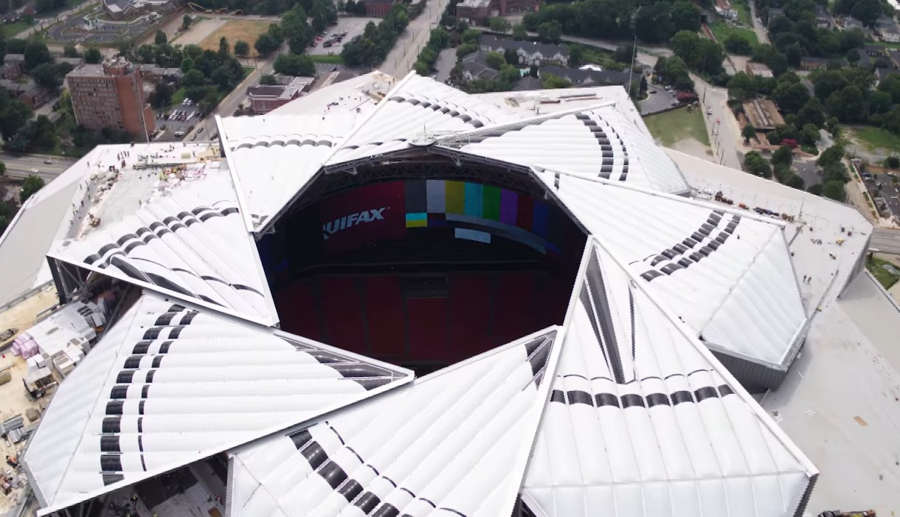 New blog mercedes benz stadium roof close timelapse for Mercedes benz stadium application