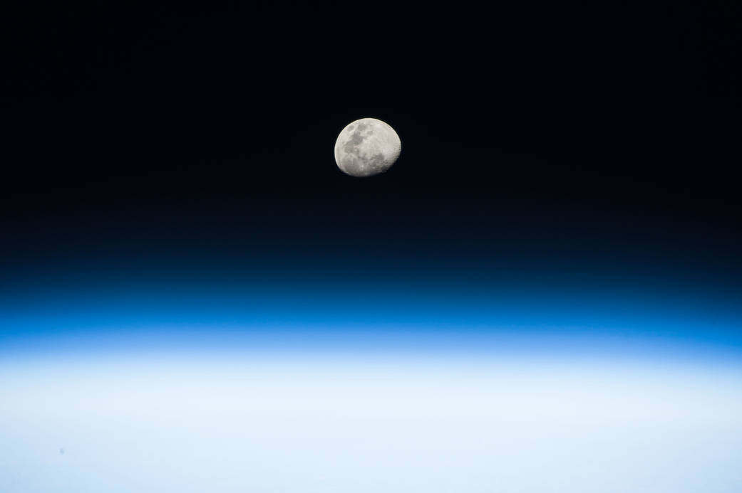 Rising Moon from the Space Station