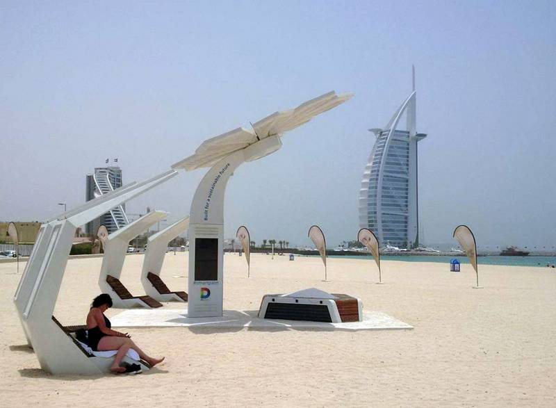 Solar Powered smart palm trees