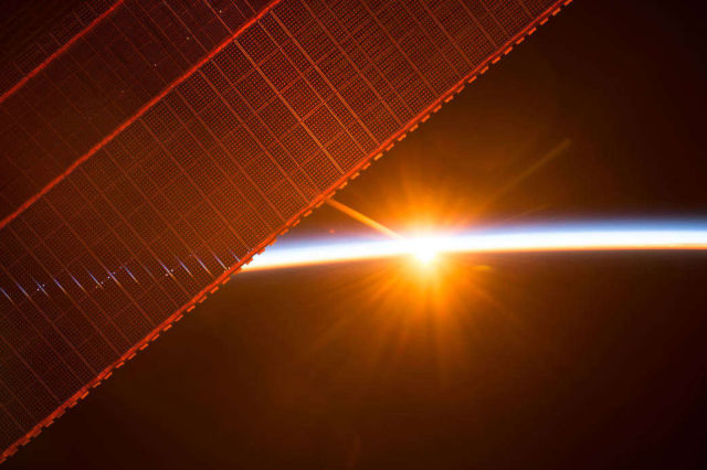 Sunrise Through the Solar Arrays