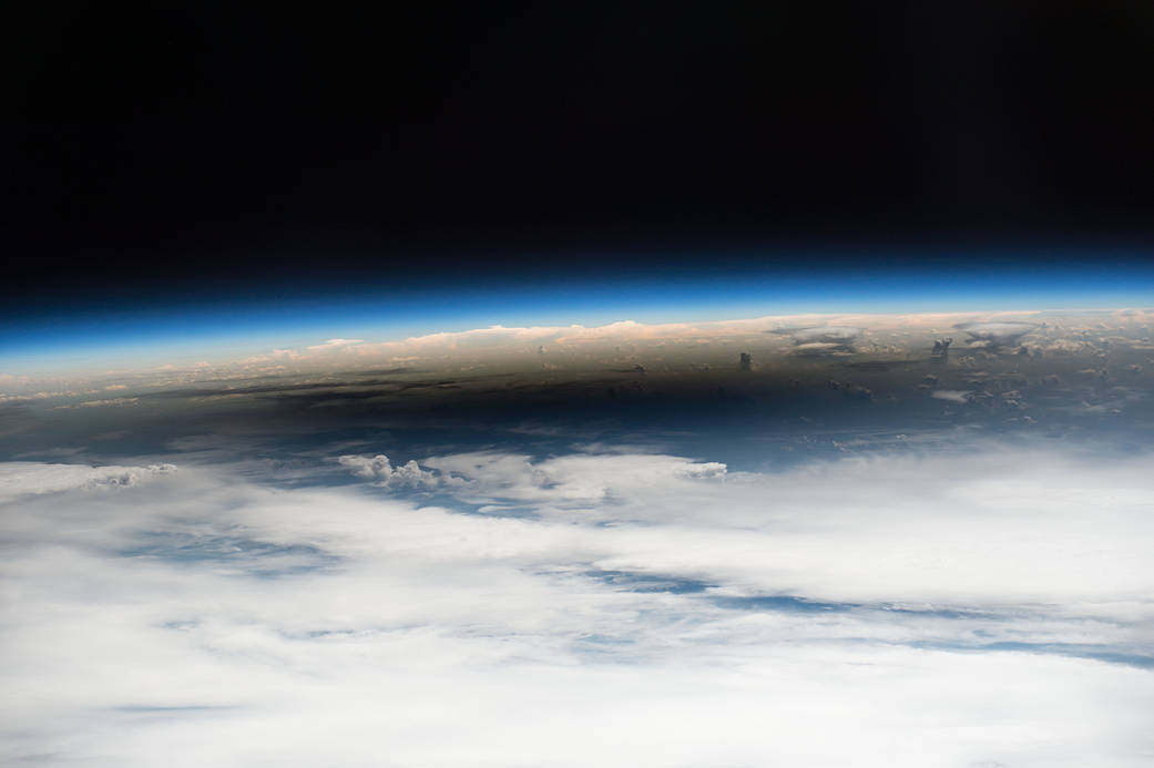 The 2017 Eclipse Umbra viewed from Space