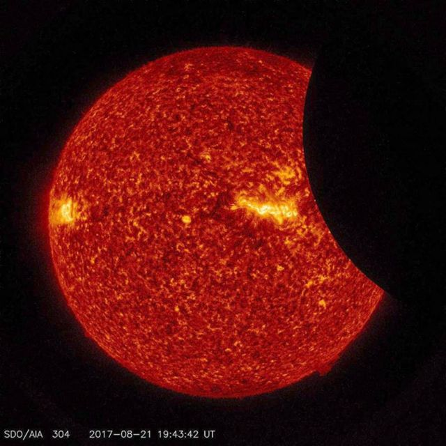 Moon transiting across the Sun
