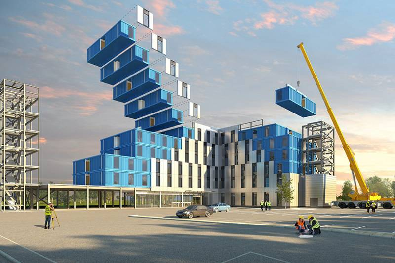 Prefab from shipping containers hotel (6)
