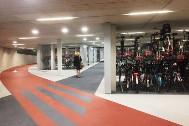 World's largest Bike parking garage