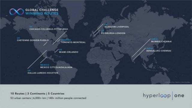 10 Winners for Hyperloop One Global Challenge