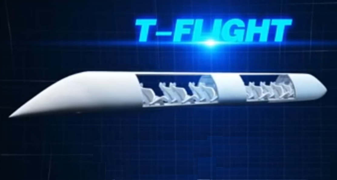 4000km per hour Supersonic Flying Train