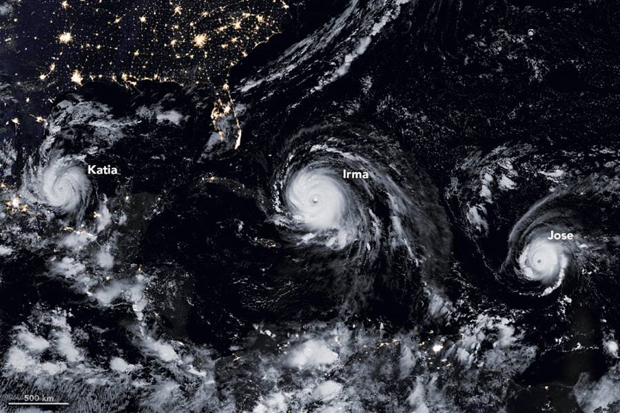 A Menacing Line of 3 Hurricanes