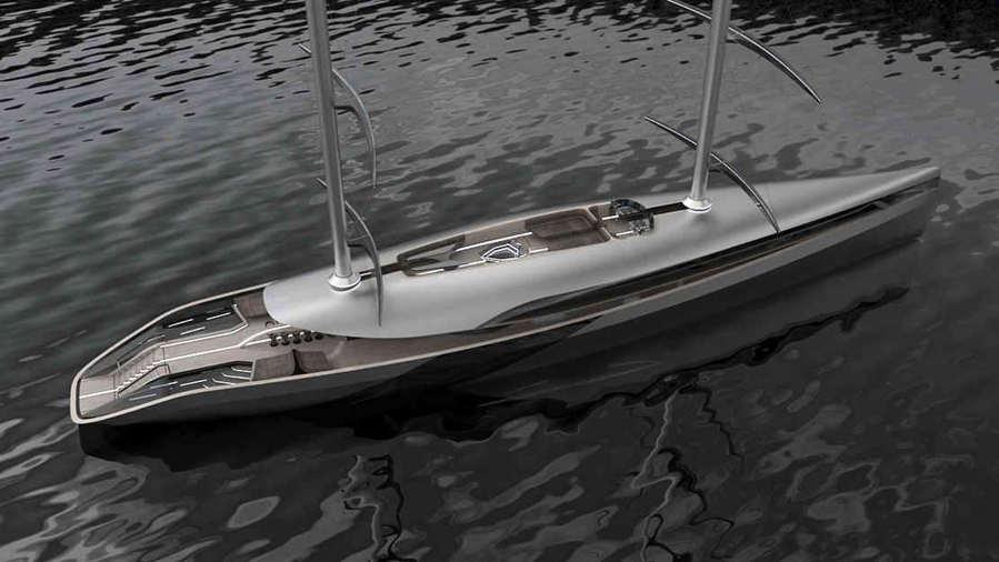 Cauta 55 m super Sailing Yacht concept