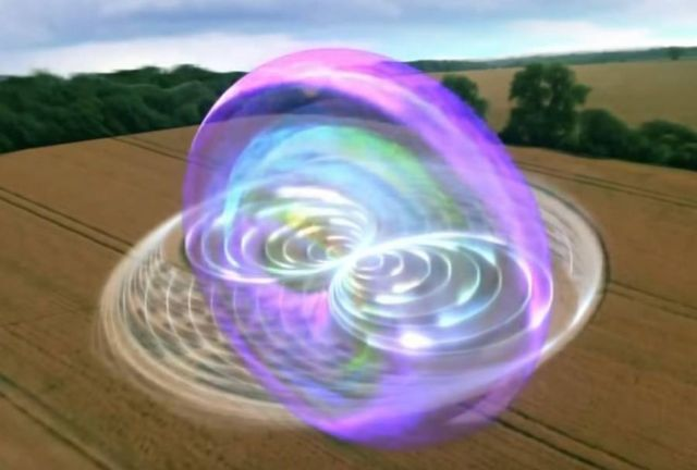 Crop Circles are 2D versions of 3D CymaticGeometric information