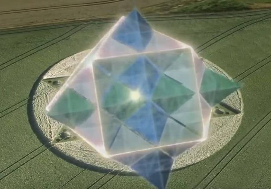 Crop Circles are 2D versions of 3D Cymatic-Geometric information