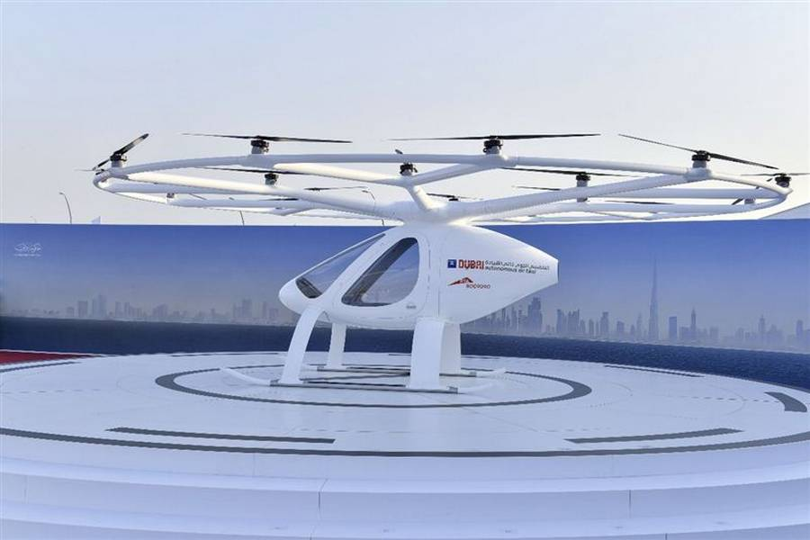 Dubai starts testing Volocopter Flying Taxi (5)