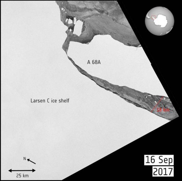 Giant Iceberg that broke from Antarctica has begun Drifting