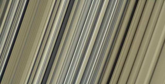 Highest-resolution image of Saturn's rings - true color