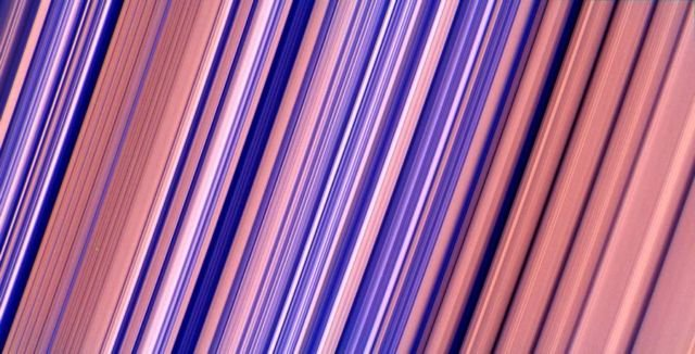 Highest-resolution image of Saturn's rings - color-enhanced version