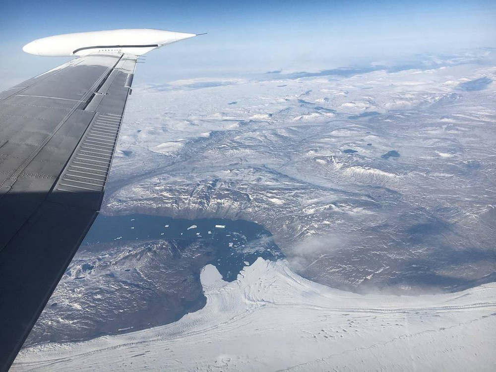 IceBridge Surveys Glaciers in Northeast Greenland