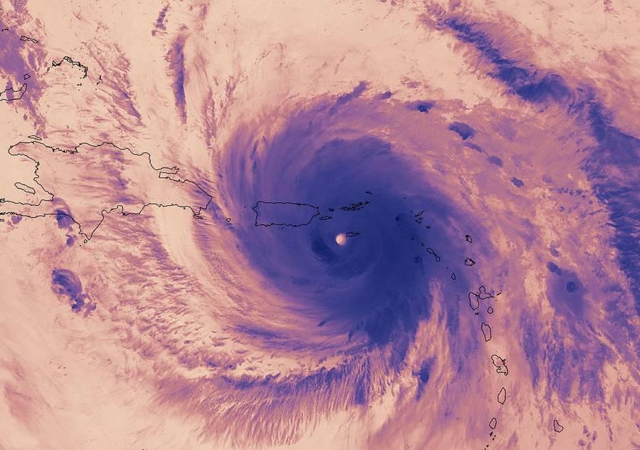 Thermal Image of Hurricane Maria