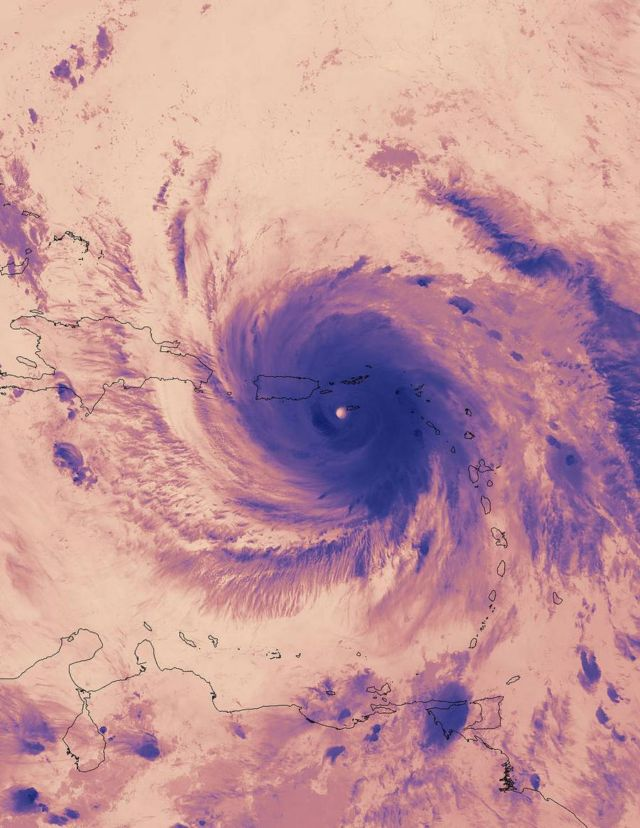 Thermal Image of Hurricane Maria