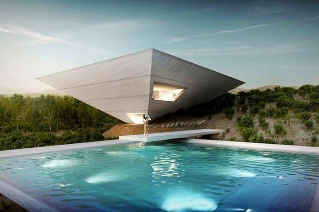 Inverted Pyramid shaped house