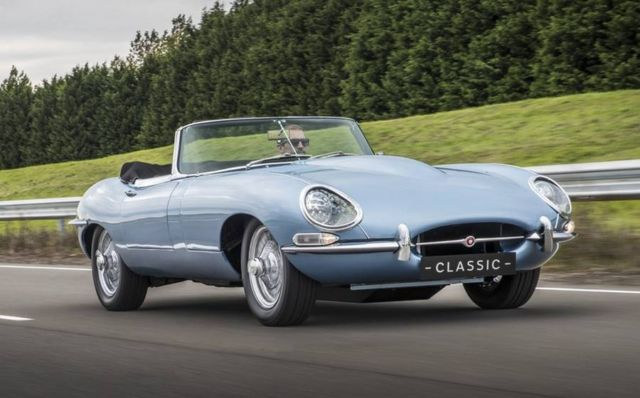 Jaguar E-type Zero electric car